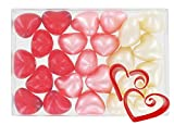 Boîte de 24 perles d'huile de bain fantaisies - Coeurs 3 parfums...