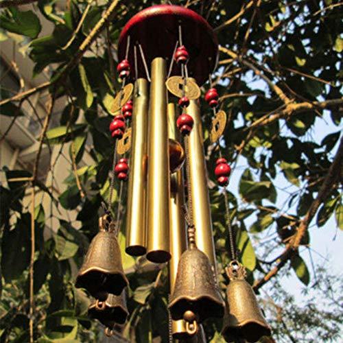 Charme Windspiel Kupfer Windglocke Garten Dekoration Zuhause Traditionell
