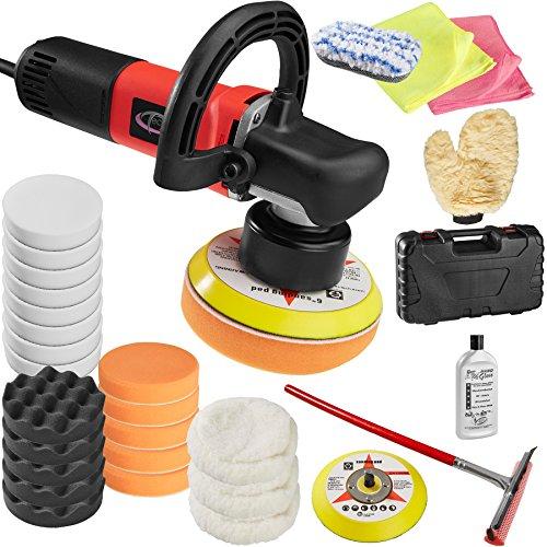 30 Teile Polierschwamm Zubeh/örset Politur Auto polieren inkl Kingbarney XXXL Profiset Poliermaschine // Schleifmaschine 1400 Watt Set 4