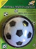 CEBEGO Fußball NAchtleuchte rund zum Drücken mit Batterie,Nachttischlampe Kinderzimmer Wandlicht zum Drücken