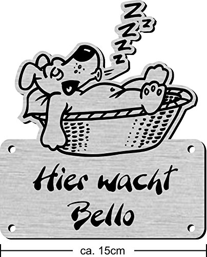 Namensschild mit Wunschtext und Motiv, Gravur für Hundehütte, Hundehaus - 3
