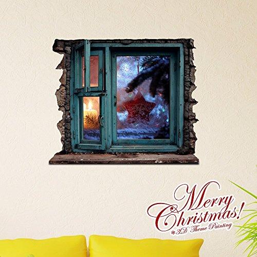 Weihnachts-Dekoration für Halloween 3D-Sticker/dreidimensionale Malerei/self-Kleber/Wohnzimmer/Schlafzimmer/Kinderzimmer/Cartoon/Animation/Malerei/Weihnachten Dekoration (58 * 69,5 cm)