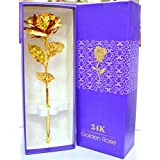House Of Gifts Rose Flower 24 K Special Gift For Valentines,Love Ones, Rose Day, Birthday With Gift Box And Carry Bag Valentine Gifts