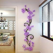 Aufkleber,Resplend DIY Wandtattoo 3D Acryl Crystal Wandsticker  Stereo Wandaufkleber Zuhause Wohnzimmer Schlafzimmer Wandbilder