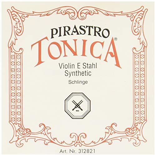 E-Violinen-Saite von Pirastro Tonica, Serie, Größe: 4/4, silbernes Stahl, Mitte, Schlingenende (4 Tonica Violin-saiten 4)