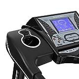 CAPITAL SPORTS Pacemaker X55 Laufband Heimtrainer (3 PS/6,5 PS, 22 km/h, Trainingscomputer, Pulsmesser, AUX, variabler Steigungswinkel, Bodenrollen) schwarz - 4