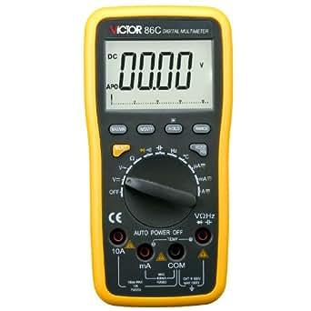 VICTOR 86C 3 3/4 Multimètre numérique Auto Gamme voltmètre ampèremètre ohmmètre Testeur Mesureur électrique LCD écran Interface USB Mise hors tension automatique