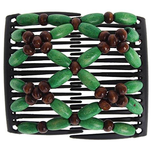 JUSTFOX - African Trend Haarklammer Haarspange Haarclip in grün