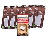 6 x AQK-01 Wasserfilter ersetzen BRITA INTENZA Nr. TCZ7003 - TCZ7033 - TZ70003 - 575491 - 467873 Filterkartusche für Bosch / Siemens EQ.3 EQ.6 EQ.8 EQ.9 / Neff / Gaggenau Kaffeemaschine Kaffeevollautomat + 10 Reinigungstabs