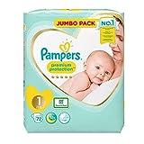 Pampers pannolini New Baby, pacco Jumbo, taglia 1 -Confezione da 72pannolini