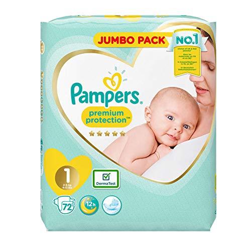 Pampers Größe 1New Baby Jumbo-Box Windeln-72Stück Windeln