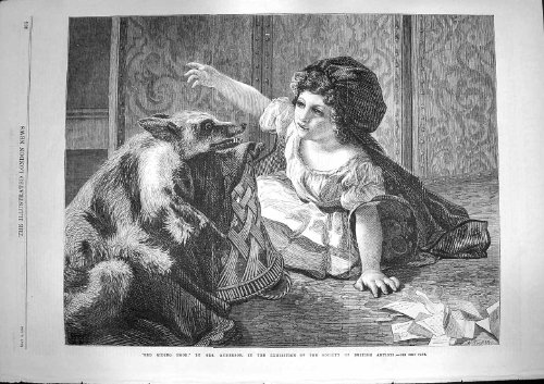 1868 Anderson Finea Rt Red Riding Hood Little Girl Fox (Original Red Riding Hood)