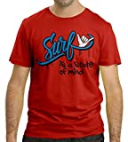 Cressi Surf Is a State of Mind, T-Shirt Uomo, Rosso, M