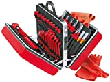 KNIPEX 989914Koffer Universal 48Stück mit Werkzeug von Sicherheit für Arbeiten an elektrischen Anlagen, Rot