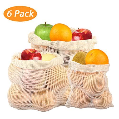 Joylink Obst- und Gemüsebeutel, Wiederverwendbar Shopper Netz Set Einkaufstaschen Produce Taschen