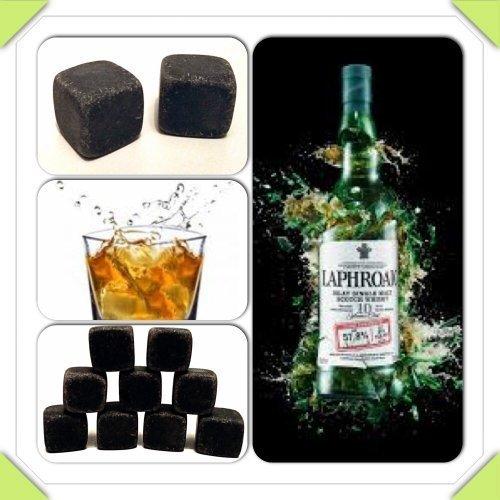 9x Whiskey Steine Whiskeysteine Kühlsteine Speckstein Eiswürfel Natursteine 100% Original Bar & Wein-accessoires