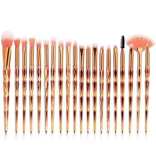 HLHN 20 Stück Kabuki Make-up Pinsel Set für die Anwendung von Make-up und Powder Foundation -...