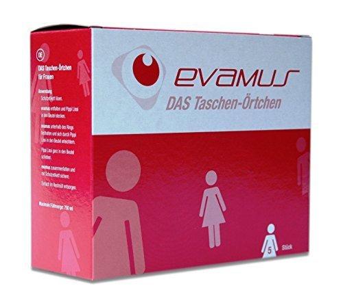 Evamus – Wegwerf Urinal 5 Stück, Taschen WC für Frauen, Taschen Örtchen, Einweg Toilette,