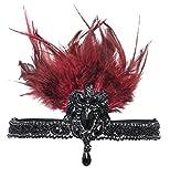 BABEYOND 1920s Damen Stirnband mit Feder 20er Jahre Stil Haarband Inspiriert von Der Große Gatsby Kostüm Accessoires Damen One Size