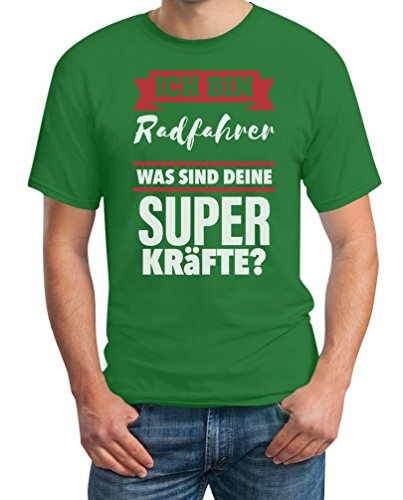 Geschenke für Radfahrer - Ich bin Radfahrer was sind deine Superkräfte ? T-Shirt Grün