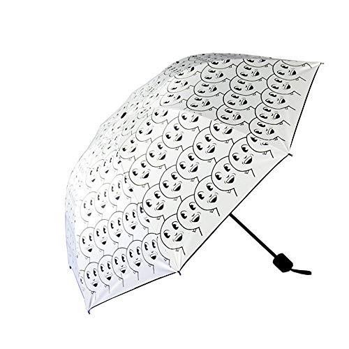Wascoo Wind und Schnee Kompakter, Faltbarer Regenschirm mit strapazierfähigem wasserabweisendem Stoff-Regenschirm Kompaktes und leichtes Fach