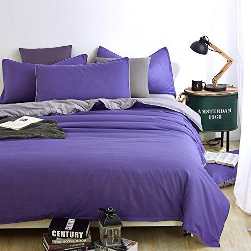 huyiming bed linings Wird für einfarbige vierteilige Studentenwohnheime mit Einer Länge von 2,2 m/Bettbezug 220 + Bettlaken 250 + Zwei Kissenbezüge verwendet -