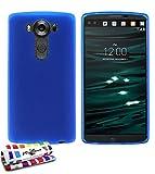 MUZZANO weiche Schutzhülle schmal LG V10[Le Glossy Hybrid] [blau] Eingabestift und Reinigungstuch angeboten–Der Schutz stoßfest ultimative, elegante und nachhaltige für Ihr LG V10