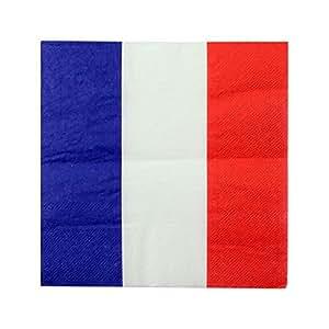 Länderdekoration Frankreich Party Servietten rot weiß blau