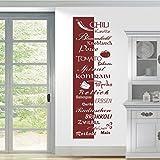 HomeTattoo ® WANDTATTOO Wandaufkleber Banner Gemüse Chili Paprika Olive Tomato 631 XL ( L x B ) ca. 180 x 58 cm (braun 800)