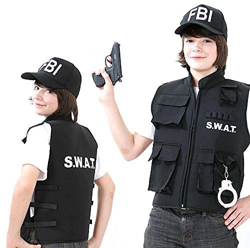 Partychic S.W.A.T Polizei Faschings-Weste für Kinder Größe 164