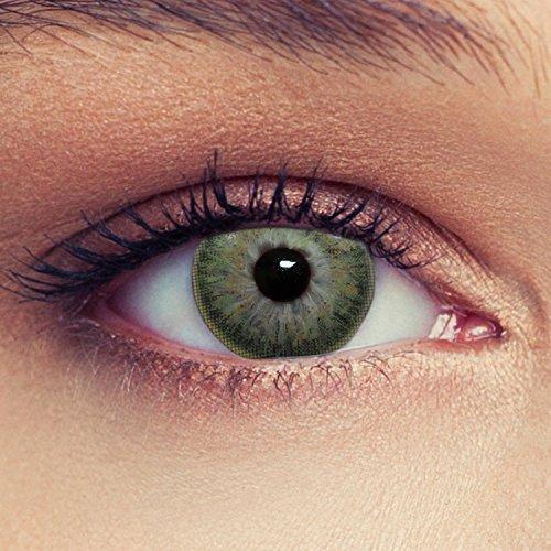 Grüne farbige Kontaktlinsen weiche natürlich wirkende Monatslinsen Farblinsen (Grün)