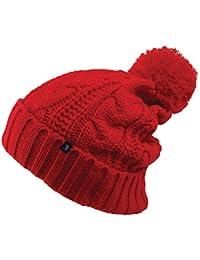 Jaxon & James Hats Cable Knit Bobble Hat - Red