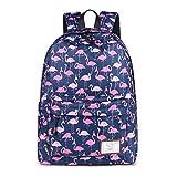 Mode Frauen Flamingo Druck FüR Teenager MäDchen Rucksack UmhäNgetasche Nette Schultaschen Blue