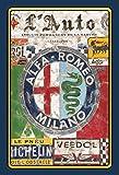 Schatzmix Alfa Romeo Milano Auto Car blechschild