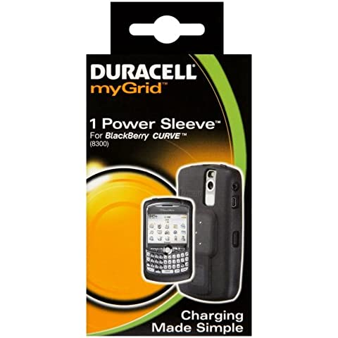 Duracell myGrid BlackBerry Curve Sleeve - Cargador (Interior, Teléfono móvil, Batería, Negro, BlackBerry Curve 8300, 8310, 8320, 8330,
