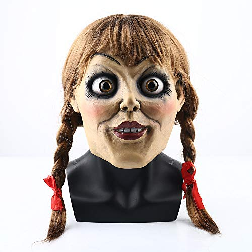 omes Home Cosplay Movie Character 2019 Thriller Annabelle Mask Halloween Horror Dress Up ()