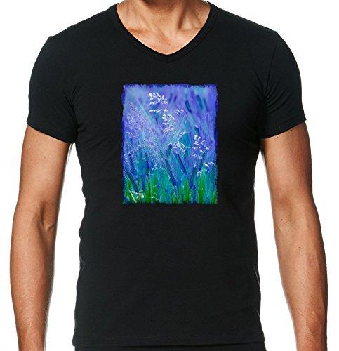 t-shirt-pour-homme-noir-col-v-taille-l-lorge-de-la-nature-bleu-et-lherbe-by-katho-menden