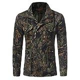 Homme Jacket Camouflage Hoodie Veste Militaire Casual Manches Longues Manteau à l'extérieur (vert clair M)