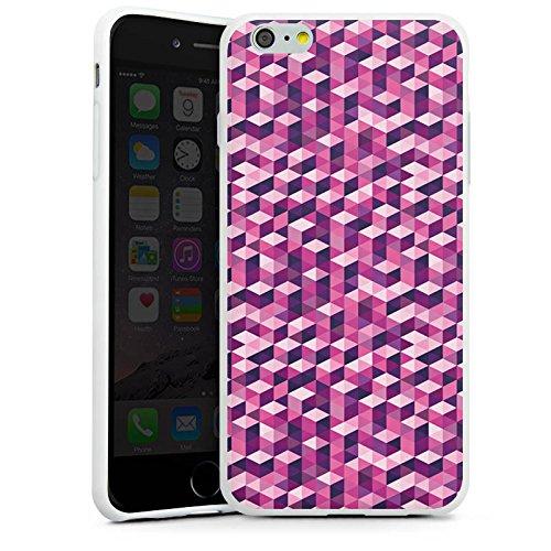 Apple iPhone X Silikon Hülle Case Schutzhülle Würfel Muster Illusion Silikon Case weiß