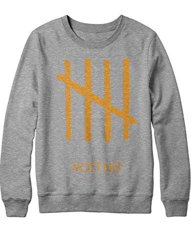 Sweatshirt Orange is The New Black OITNB C210034 Grau L (Alex Vause Und Piper Chapman Kostüm)
