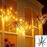 DIY LED lichterkette,Innen- und Außen,2 Meter 100 LEDs, IP44 Wasserdicht warmweiß für Garten,Halloween,Hochzeit,Party, Weihnachtsbaum.