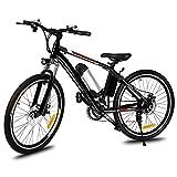 Beautytalk 26 inch Elektrofahrrad E Bike Mountainbike Damen und Herren mit 250W Hochgeschwindigkeits-Bürstenlose Motor und E-Faltrad 36V Lithium-Akku(CZ Lager) (Nicht Faltbar, Schwarz)