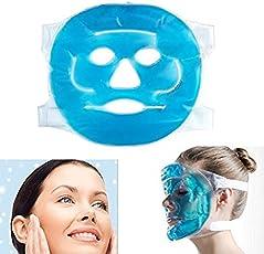 Denshine Hot Cold facciale maschera gel Pad, reusable- cubetti di ghiaccio per gonfiore viso, occhi gonfi, occhiaie, mal di testa, emicrania, Sinus Relief