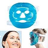 Denshine Facial chaud froid Glace Masque visage Gel Pad Congelable, Reusable- pour gonflées, visage, yeux gonflés, cernes, maux de tête, la migraine, SINUS Soulagement