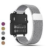 iFeeker Für Garmin Vivoactive Acetate Metall Uhrenarmband, 20mm Ersatz Magnetverschluss Milanese Loop Edelstahlgewebe Armband für Garmin Vivoactive Acetate Sport GPS Smart Watch