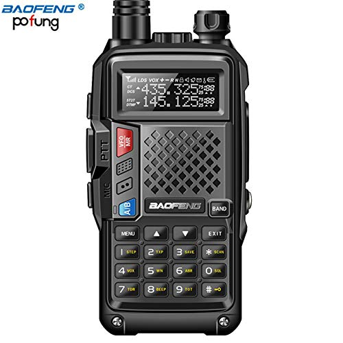 2PCS,PLUS 8W High Power UHF/VHF Dualband 10km Langstrecke verdickte Batterie-Talkie mehrere Lademodi,Black