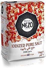 NEZO Fine Iodized Vacuum Salt Red, 1 kg