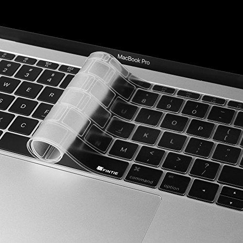 Fintie [Ultra Schlank] Silikon Tastaturschutz QWERTY für New MacBook Retina 12-Inch (A1534) und New MacBook Pro 13-Inch mit Retina Display A1708 (2016 Release, No TouchBar), Klar