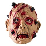 Fsskgxx Scary Halloween Mask - Realista Red Scar Halloween Decor Cosplay...