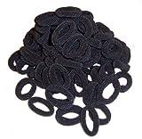 Haargummis schwarz 100 Frottee Zopfbänder Gummibänder Haarschmuck Kinder Zopfgummis